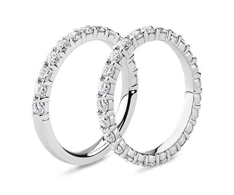 Half Eternity vs. Full Eternity Rings