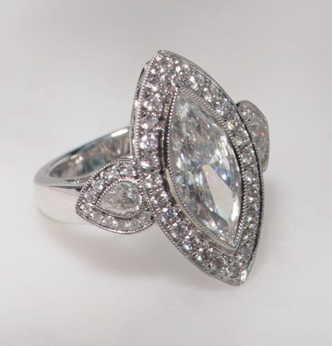 Vintage engagement ring influences