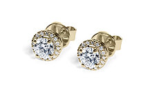 Yellow Gold Medici Diamond Studs