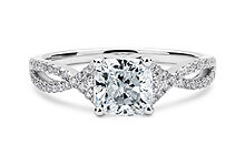 Platinum Lola Vintage Engagement Rings