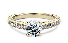 Yellow Gold Odessa Vintage Engagement Rings