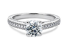 White Gold Odessa Vintage Engagement Rings