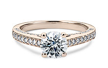 Rose Gold Odessa Vintage Engagement Rings