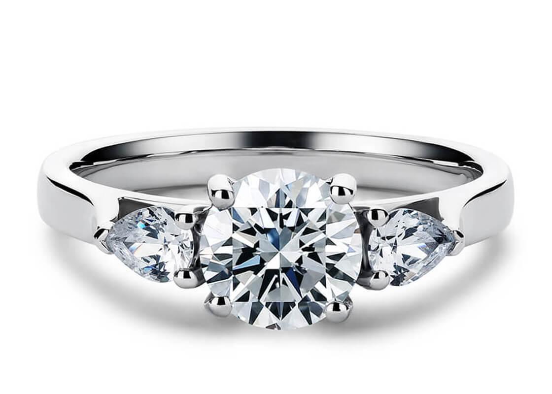 10.03 Round Trilogy Barcelona Diamond Ring by 77 Diamonds
