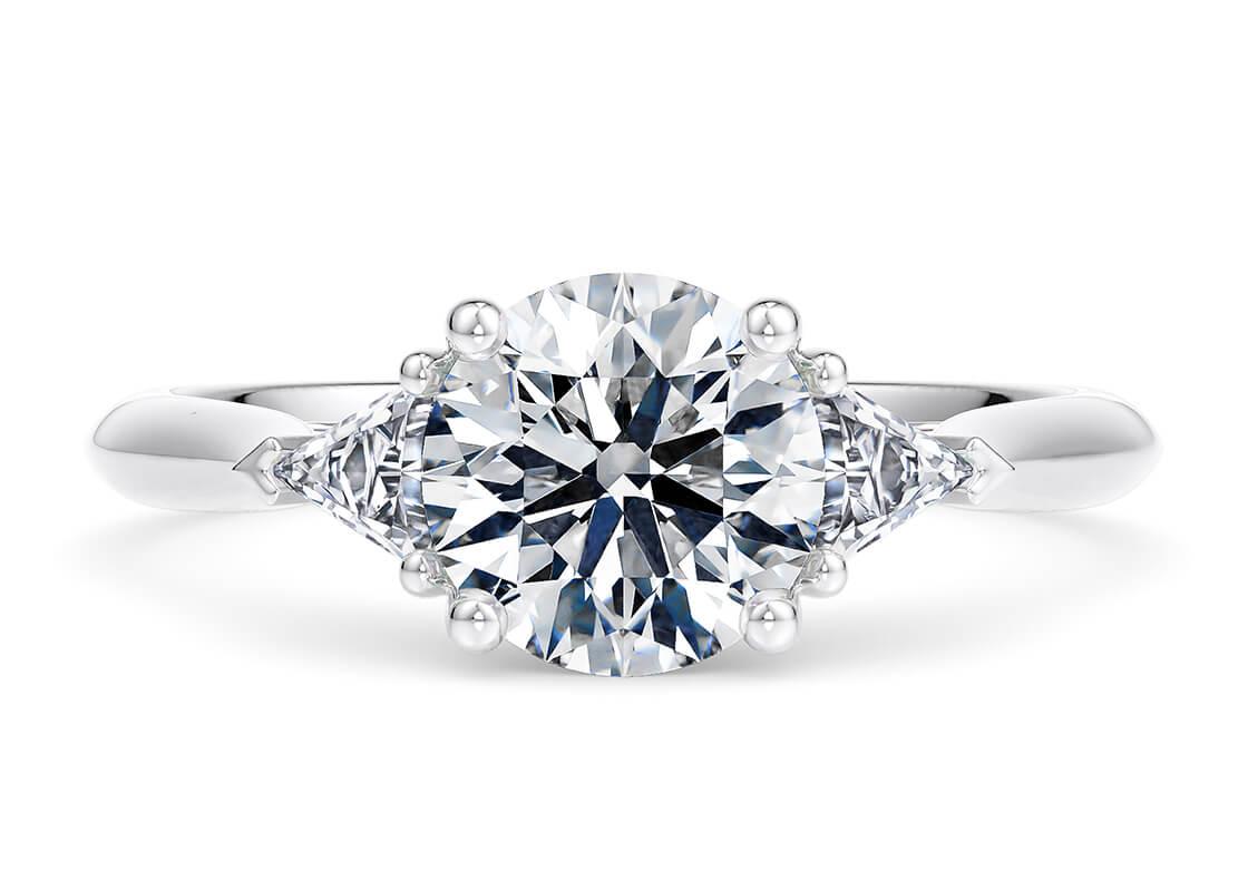 9.04 Carat Round Paris Trilogy Diamond Ring by 77 Diamonds