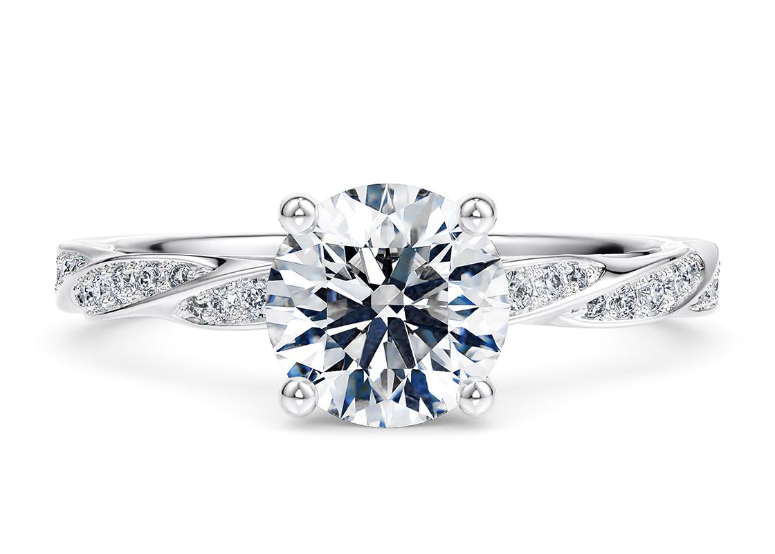 10.06 Carat Round Marylebone Diamond Ring by 77 Diamonds