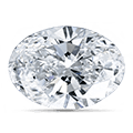 Oval-sleben diamant