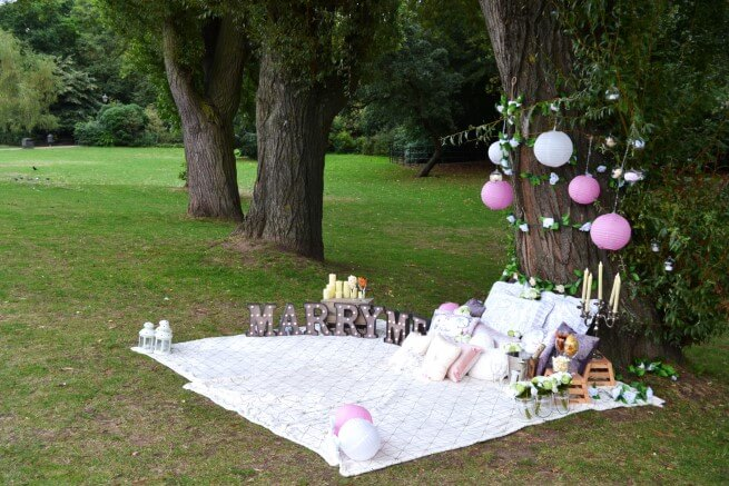 Creative At Home Proposal Ideas - garden picnic